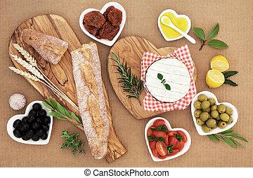 cibo, estate, picnic