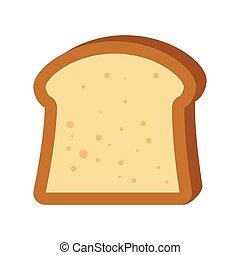 cibo, fetta, bread