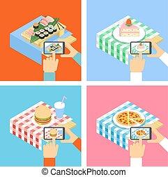 cibo, foto, smartphone