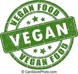 cibo, gomma, vegan, francobollo