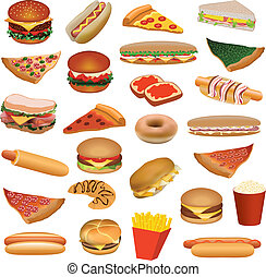 cibo, grande, set, digiuno