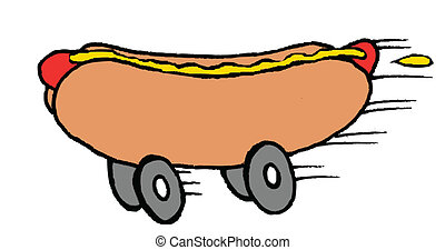 cibo, hot dog, digiuno