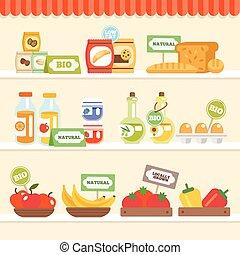 cibo, mensola, collezione