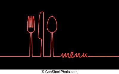 cibo, menu, astratto, fondo