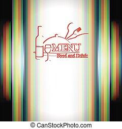 cibo, menu, bevanda, ristorante