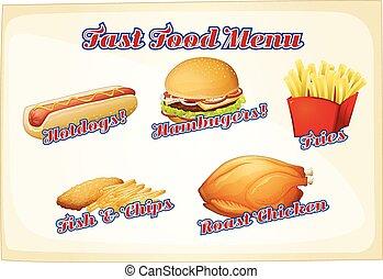 cibo, menu, digiuno