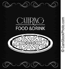 cibo, menu, ristorazione, servizio, icona