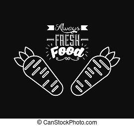 cibo, menu, vegetariano