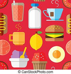 cibo, modello, bevanda, fondo