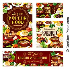 cibo, nazionale, coreano, cuisine., orientale, ristorante