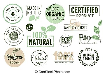 cibo, organico, adesivi