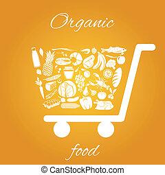 cibo organico, carrello