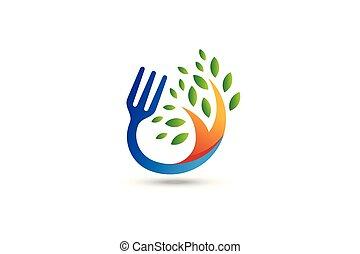 cibo, organico, logo.