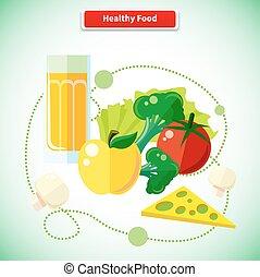 cibo, organico, salute