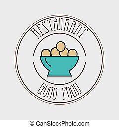 cibo, piastra, uova
