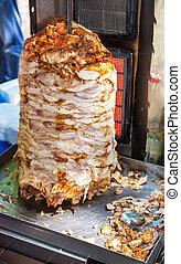 cibo, popolare, digiuno, uno, shawarma, la maggior parte