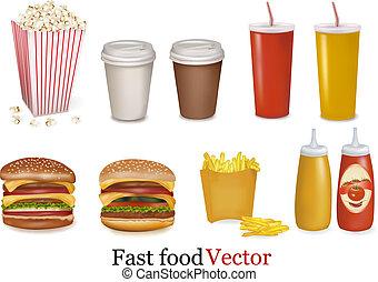 cibo, products., digiuno, gruppo, grande