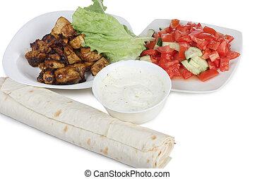 cibo, quattro, arabo