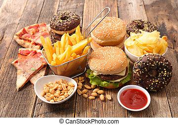 cibo, rifiuto, assortito