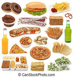 cibo, rifiuto, collezione