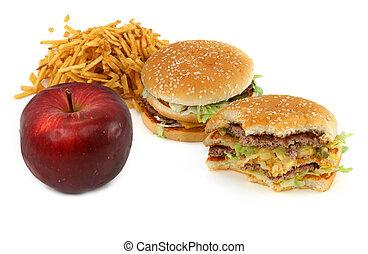 cibo, rifiuto, mela