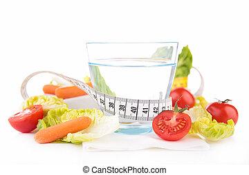 cibo sano, e, bevanda