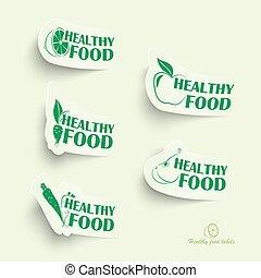 cibo sano, icone