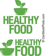cibo sano, icons.