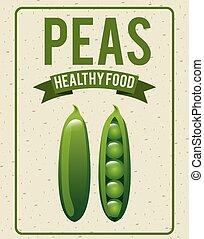 cibo, sano, organico, disegno