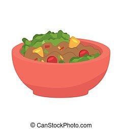 cibo, sano, piastra