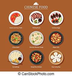 cibo, set, cinese