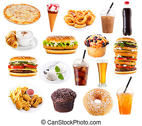 cibo, set, prodotti, digiuno