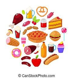 cibo, sfondo bianco