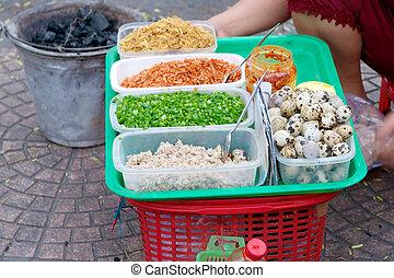cibo, strada, vietnamita