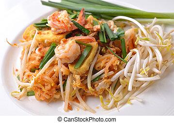 cibo tailandese, rilievo tailandese, tumulto frigge,...