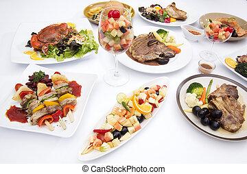cibo, tavola, bianco, internazionale