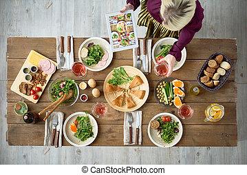 cibo, tavola, cena, festivo
