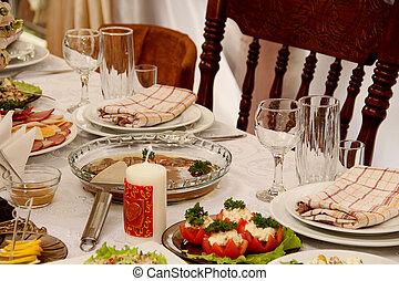 cibo, tavola, ristorante, bibite, festivo
