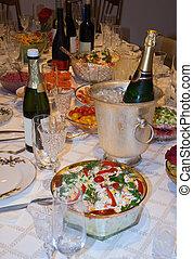 cibo, tavola, vacanza, vino
