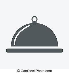 cibo, vassoio serving, piatto da portata