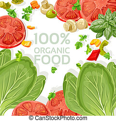 cibo, vegetariano, organico, fondo