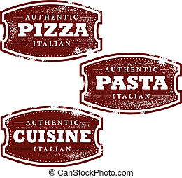 cibo, vendemmia, francobolli, italiano