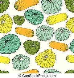 cibo, verdura, pattern., seamless