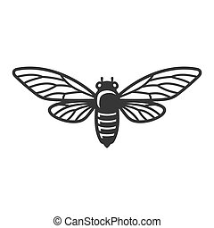 Cicada Beetle Insect on White Background. Vector illustration