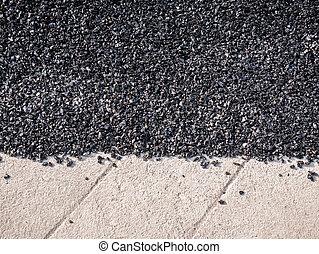 cicatrizarse, camino de asfalto, reparación