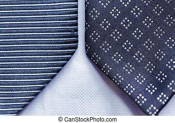cicatrizarse, de, azul, modelado, corbatas