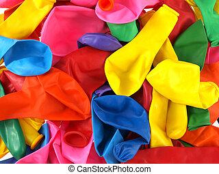 cicatrizarse, de, colourfull, fiesta, balloons.
