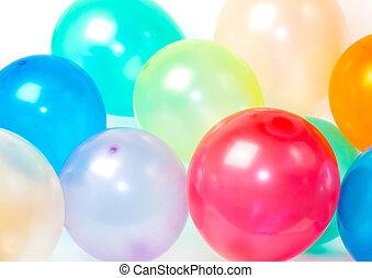cicatrizarse, de, globos, en, vario, colores