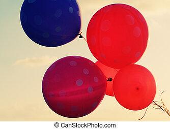 cicatrizarse, de, globos