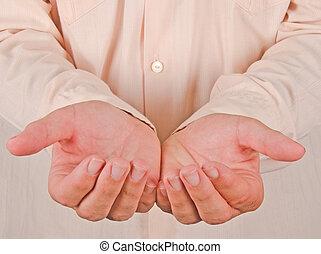 cicatrizarse, de, manos